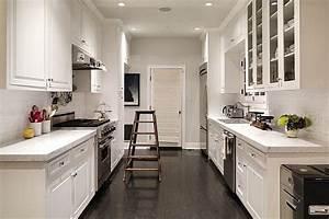 galley kitchen design in modern living With small corridor kitchen design ideas
