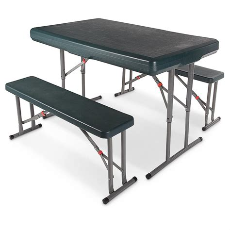 folding table with bench stansport folding picnic table 665191 tables at