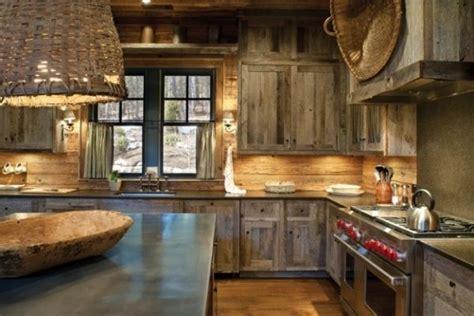 Küche Rustikal Einrichten Gemütlich Landhausstil Holzhaus