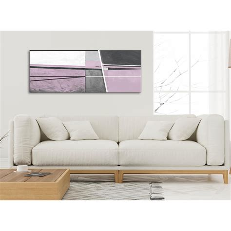 Lilac Grey Painting Living Room Canvas Wall Art