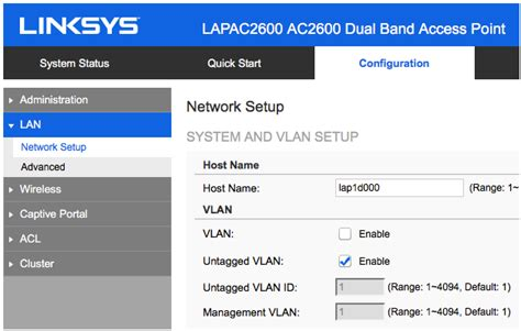Linksys Official Support Configuring An Access Point As Linksys Official Support Configuring The Vlan And Lan