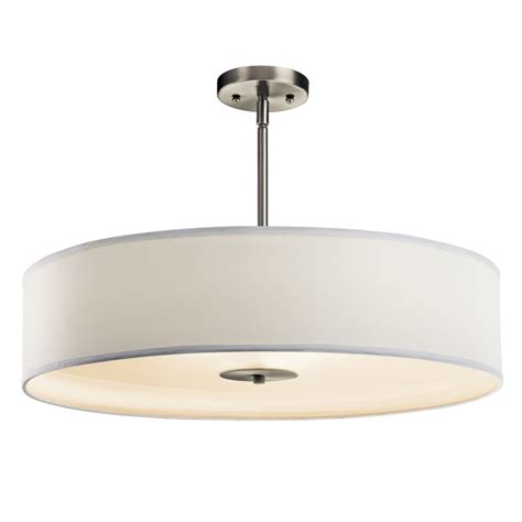kichler 42122ni brushed nickel 3 bulb indoor pendant or