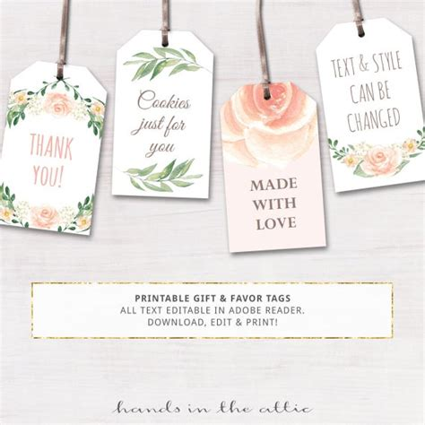 printable baby shower labels editable gift tags