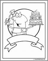 Cake Coloring Baker Sheet Colorwithfuzzy sketch template