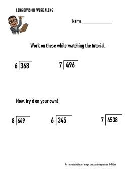 division worksheets  explanation