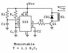 photo quot555 timer relay turns on when the power is applied With pulse timer controller wiring diagram with reset switch leds click