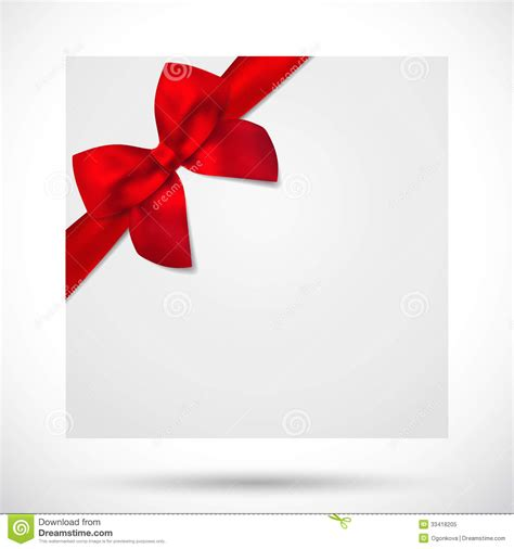 holiday card christmas gift birthday card bow stock