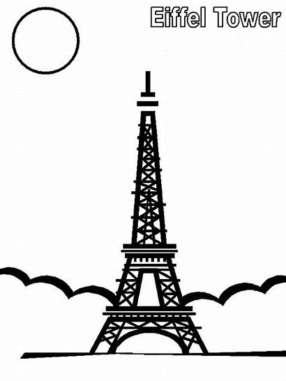 Tower Eiffel Coloring Night Pages