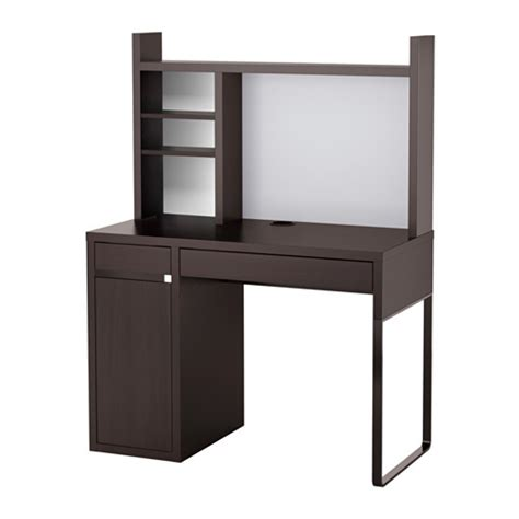 micke workstation black brown 105x50 cm ikea