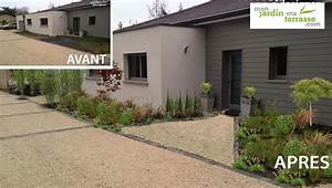 amenagement du jardin de lentree dune maison With amenagement jardin maison neuve