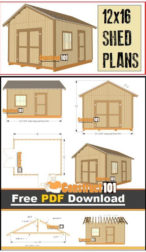 free small shed plans 12x16 shed plans gable design pdf in 2019
