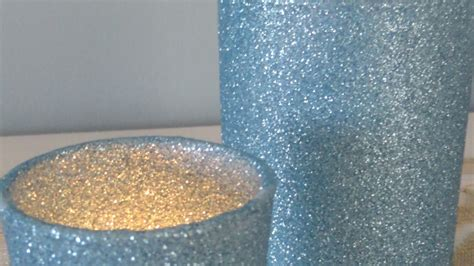 sparkly glitter candle holders diy crafts