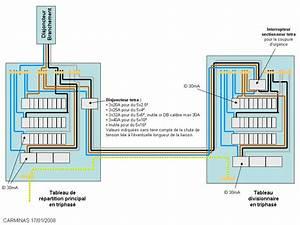 schema tableau divisionnaire triphase maison avec du 380v With disjoncteur differentiel pour salle de bain