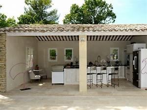 une cuisine d39ete comme un ilot de convivialite au coeur With amenagement petit jardin exterieur 13 cuisines jardin ete maison amp travaux