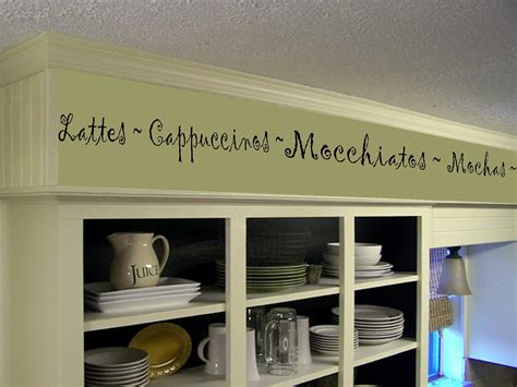 word for cabinet coffee kitchen words border vinyl wall decor cafe by landbgraphics