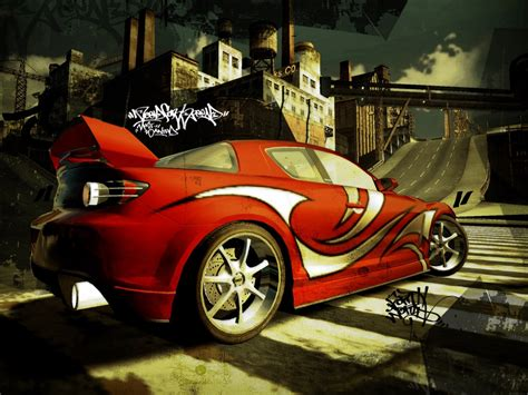 Nfs Red Mazda Rx8 Stock Photos