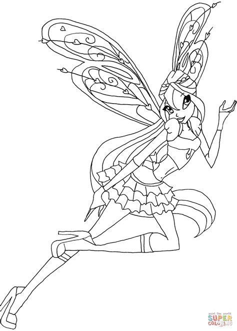 Winx Kleurplaat Bloom winx club bloom enchantix coloring pages coloring home