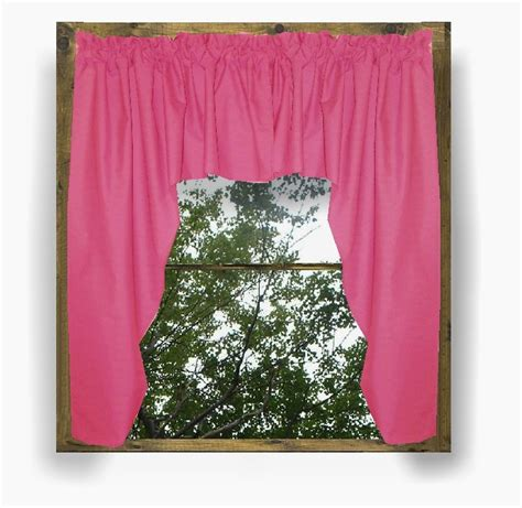 solid hot pink fuchsia colored swag window valance optional center piece