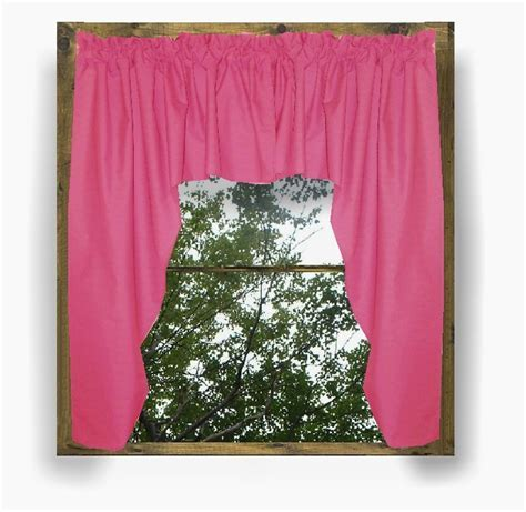 Solid Hot Pink Fuchsia Colored Swag Window Valance