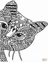 Coloring Easy Sheets Seniors Care Aged Cat Zentangle Healthcare Channel sketch template