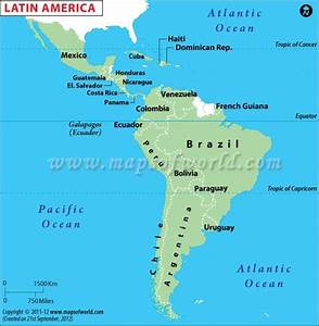 Latin America Map | Map of Latin American Countries