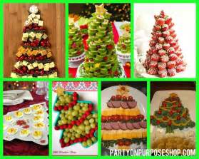 christmas holiday party food ideas any food platter into the shape of a tree i don t know