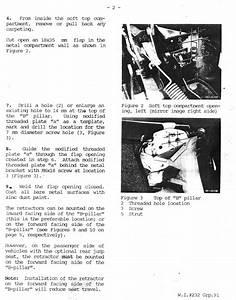 Pagoda Sl Group Technical Manual    Interior    Seatbelts