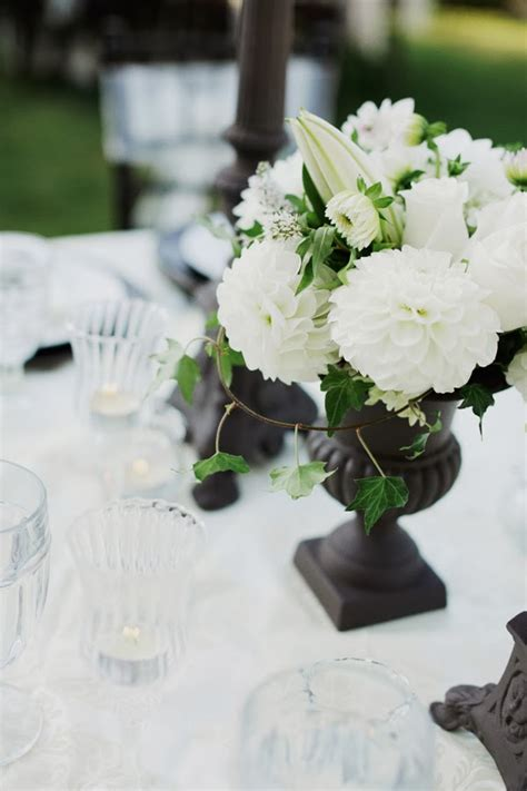 black and white floral centerpieces black and white wedding centerpieces wedding stuff ideas