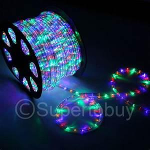 Multi rgb led rope ft v wire flexible diy lighting