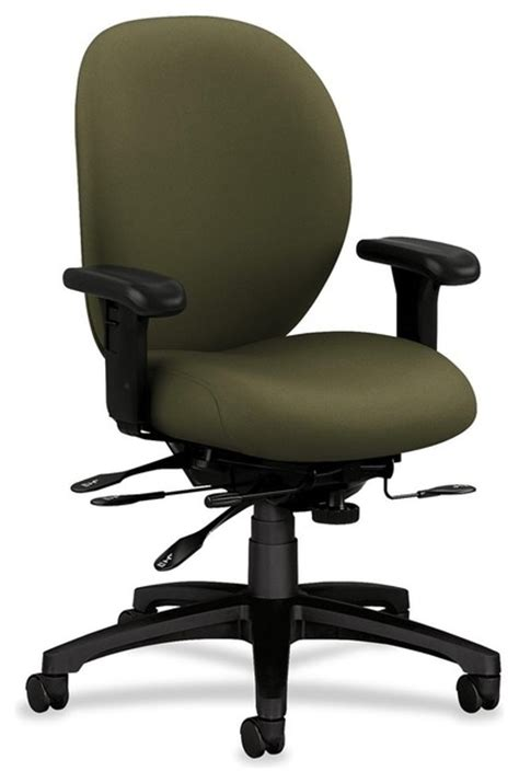 hon 7600 series mid back chairs with seat glide olive