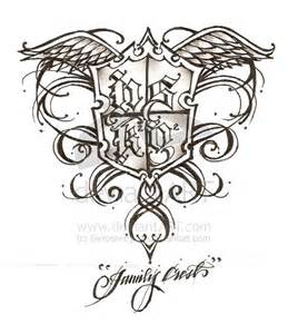 Family Crest Tattoo Designs