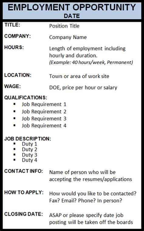 job posting template doliquid