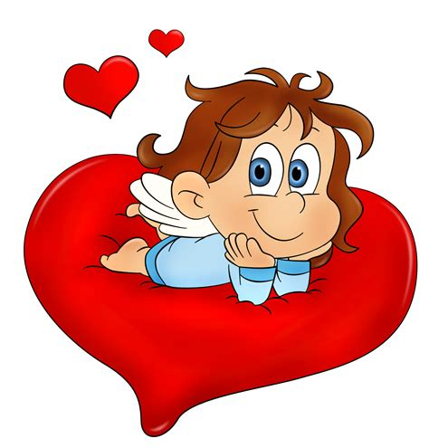 Cute Valentine Angel Clip Art