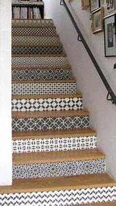 Escalier Carreaux De Ciment : tendance carreaux ciment carrelage adh sif pour escalier ~ Dailycaller-alerts.com Idées de Décoration