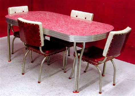 vintage metal kitchen table retro table and chairs for your wonderful house seeur