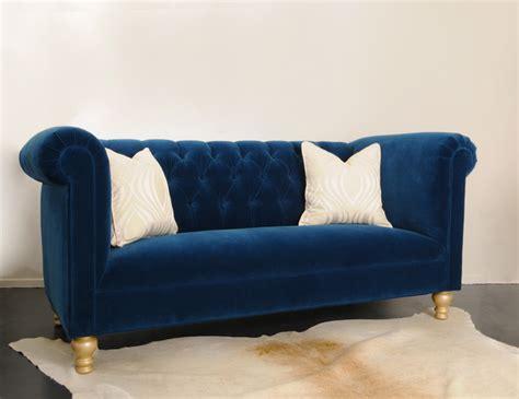 blue tufted sectional sofa tufted blue sofa smalltowndjs com