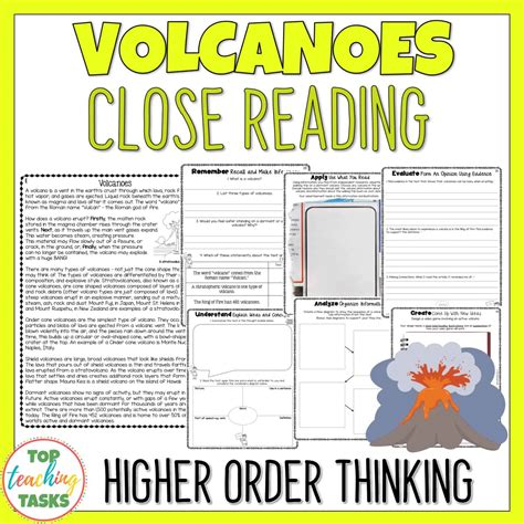 Volcanoes Reading Comprehension Passages And Questions  Top Teaching Tasks