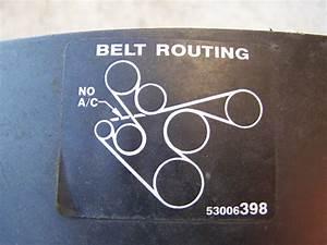 Serpentine Belt Routing Diagram