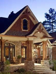 Decorative Craftsman Lodge House Plans by Woods Stones And House On
