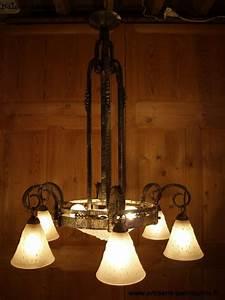 Lustre En Fer Forgé : ancien lustre art d co des ann es 1930 en fer forg et ~ Dailycaller-alerts.com Idées de Décoration