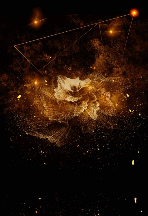 Abstract Black And Gold Background Png by Black Gold Gorgeous Atmosphere Real Estate Poster Opening