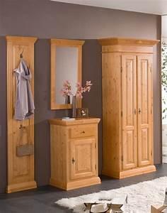 Garderoben Set Massivholz : garderoben set landhausstil isabella massivholz fichte k01 3g ~ Whattoseeinmadrid.com Haus und Dekorationen