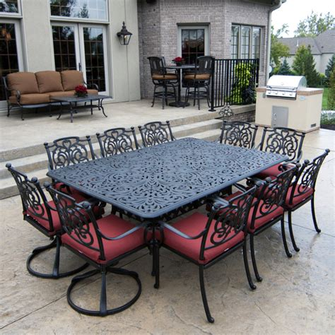 st augustine cast aluminum dining patio furniture by