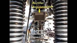 Test Of Rectifier Regulator Of Royal Enfield Motorcycle