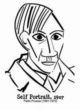 Picasso Portrait Pablo Coloring Self Autorretrato Printable Colorir Arte Imagens Obras Coloriage Freebies Imagem Cubism Desenho Pintar Portraits Retrato Cubismo sketch template