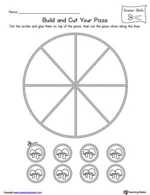 pizza scissor practice myteachingstation 361 | Pizza Scissor Skills Practice Worksheet