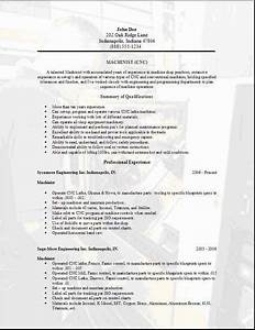 Machinist Cover Letter Machinist Resume Occupational Examples Samples Free Edit