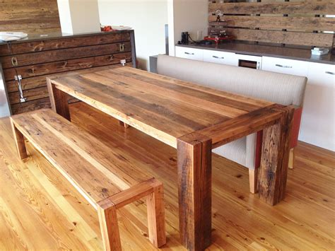 Reclaimed Diy Wood Dining Furniture For Small Space