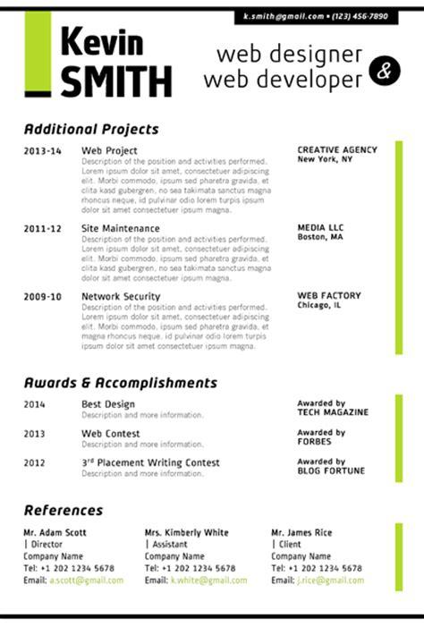 web designer resume template trendy resumes