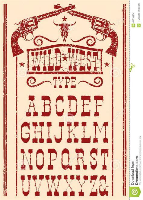 wild west type stock vector image  lettering alphabet lettering alphabet fonts
